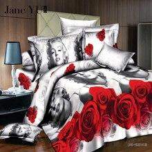 JaneYU 2019 3d bedding sets bedclothes duvet cover sheet Queen king bedspread bedlinen HomeTextiles