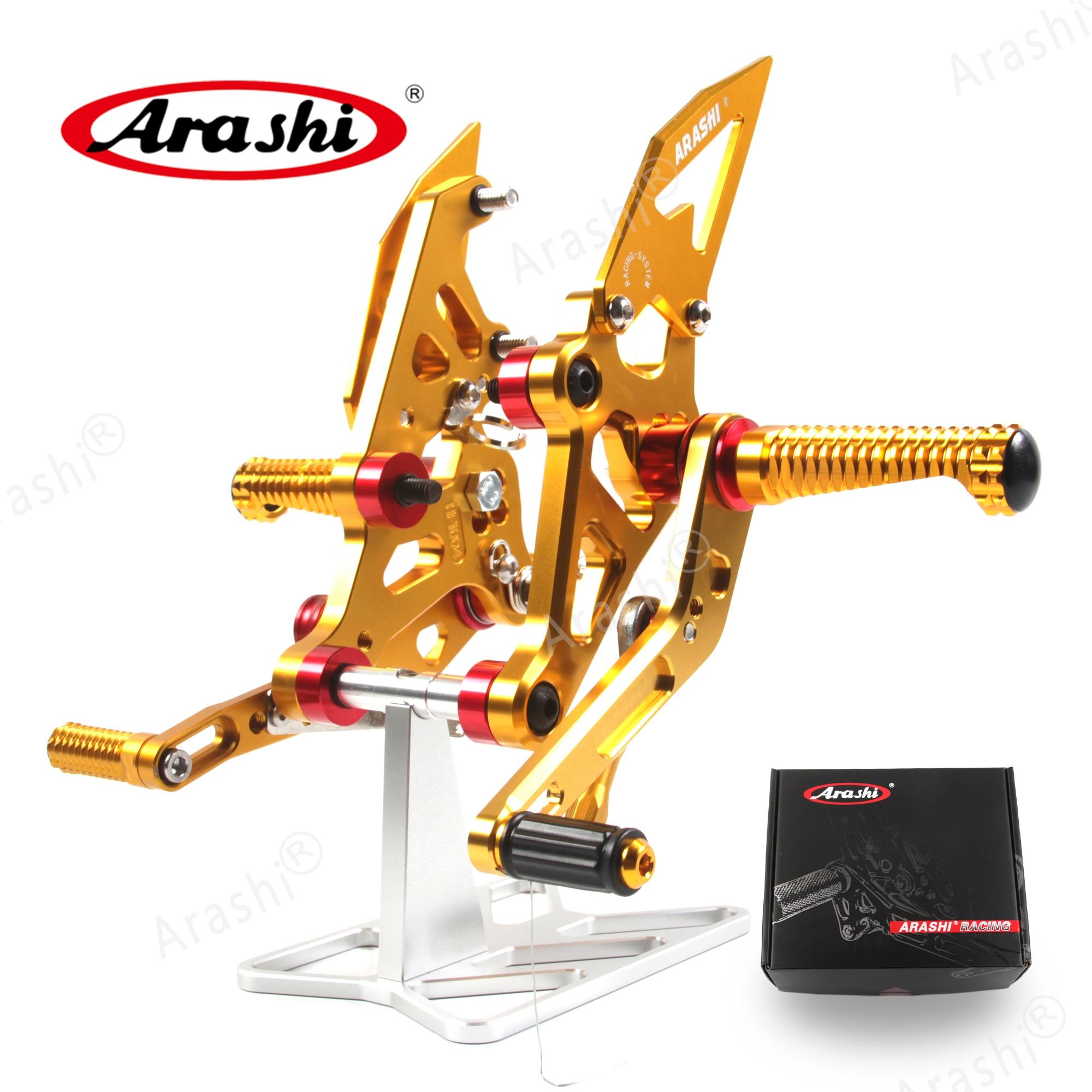 Arashi For YAMAHA MT07 2014-2016 CNC Adjustable Footrest Foot Pegs MT 07 FZ 07 2014 2015 2016 Motorbike Rider Rearset Footrest