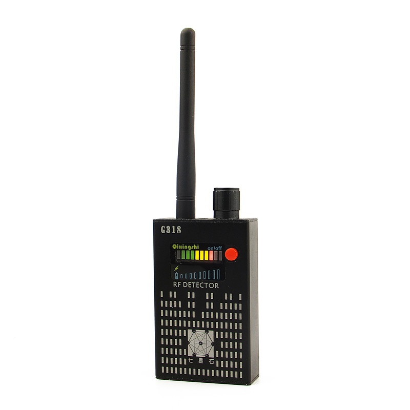 1MHz-8000MHz Radio Detection Anti Spy Signal Hidden Camera GSM Audio Bug Finder 4G GPS Signals Lens RF Tracker Detectors Black