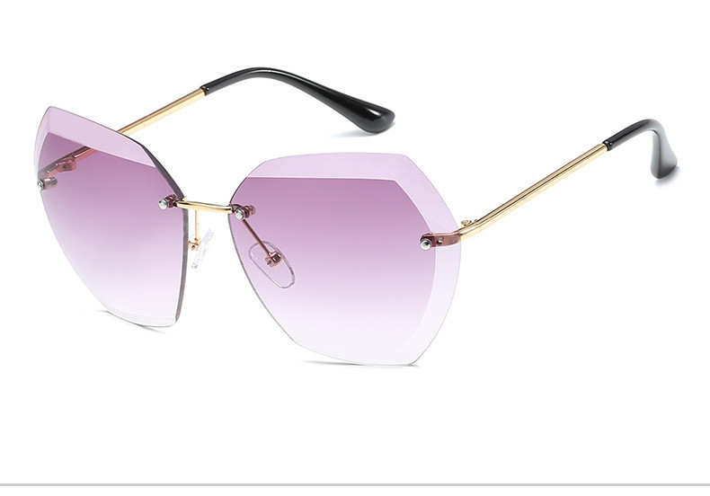 HTB1bvsDftnJ8KJjSszdq6yxuFXaX - Luxury Vintage Rimless Sunglasses Women Brand Designer Oversized Retro Female Sunglass Sun Glasses For Women Lady Sunglass 2018