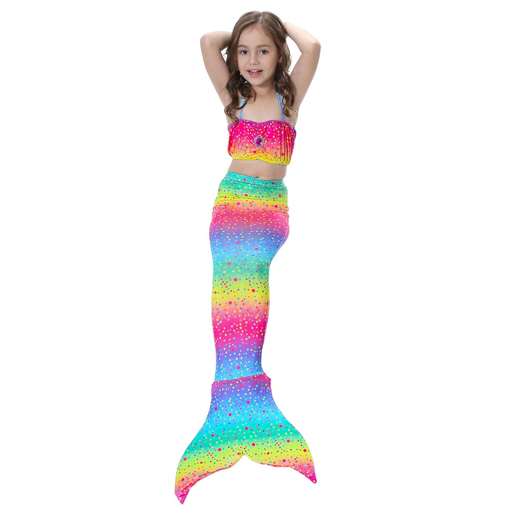 Baby Girl 3pcs Mermaid Tail Swimsuits with Monofin ...