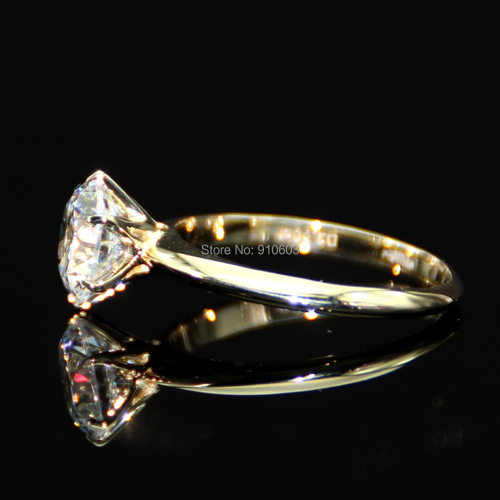 Classic Wedding Ring With 6 Prong 2 Carat Lab Grown Diamond Ring