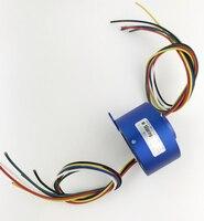 Hollow Slip Ring Hole Diameter 12.7mm 2/4/6 Circuits 10A Slip Ring For Camera Pan Tilt/Robot/Electric Equipment