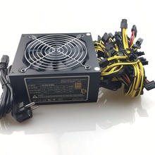 купить free ship 1600w computer power supply mining rig antminer pico psu asic bitcoin miner for rx 470 rx 580 rx 570 rx480 atx btc недорого
