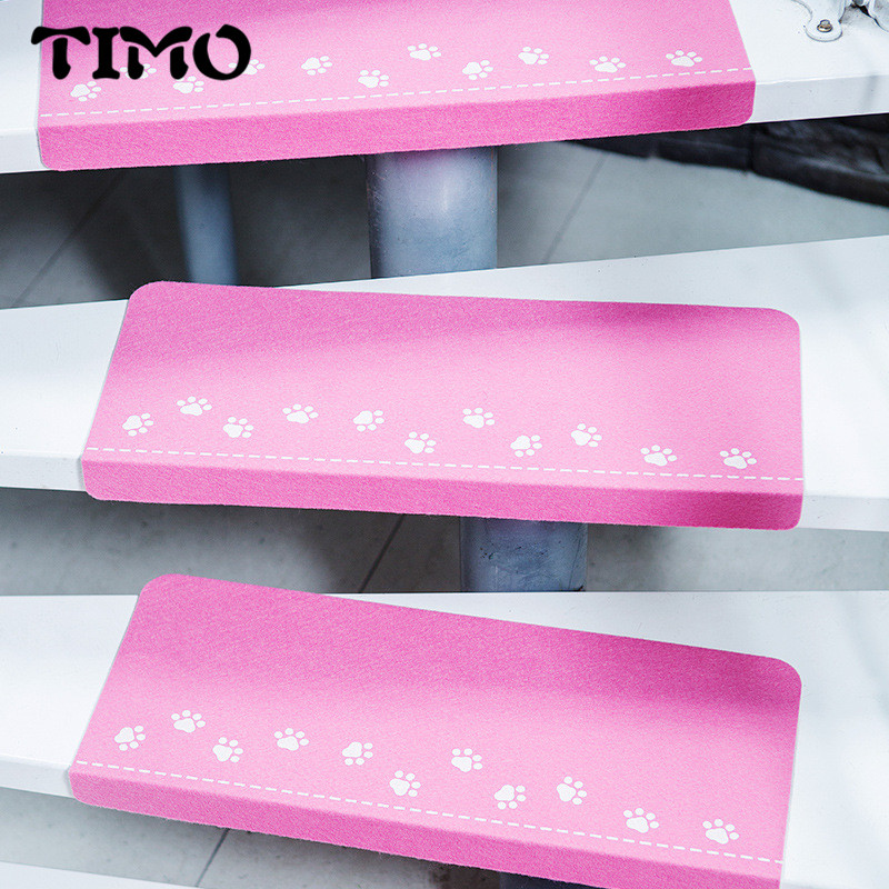 TIMO Home Stair Carpet Step Pad Bape Mat Warm Anti-slip Floor Night light Mat Safety Chi ...