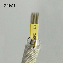 100PCS Microblading Shading Blades Tattoo Needles 21 Pins DOUBLE ROW Microblading Needles 21M1 Fog Brow Needle
