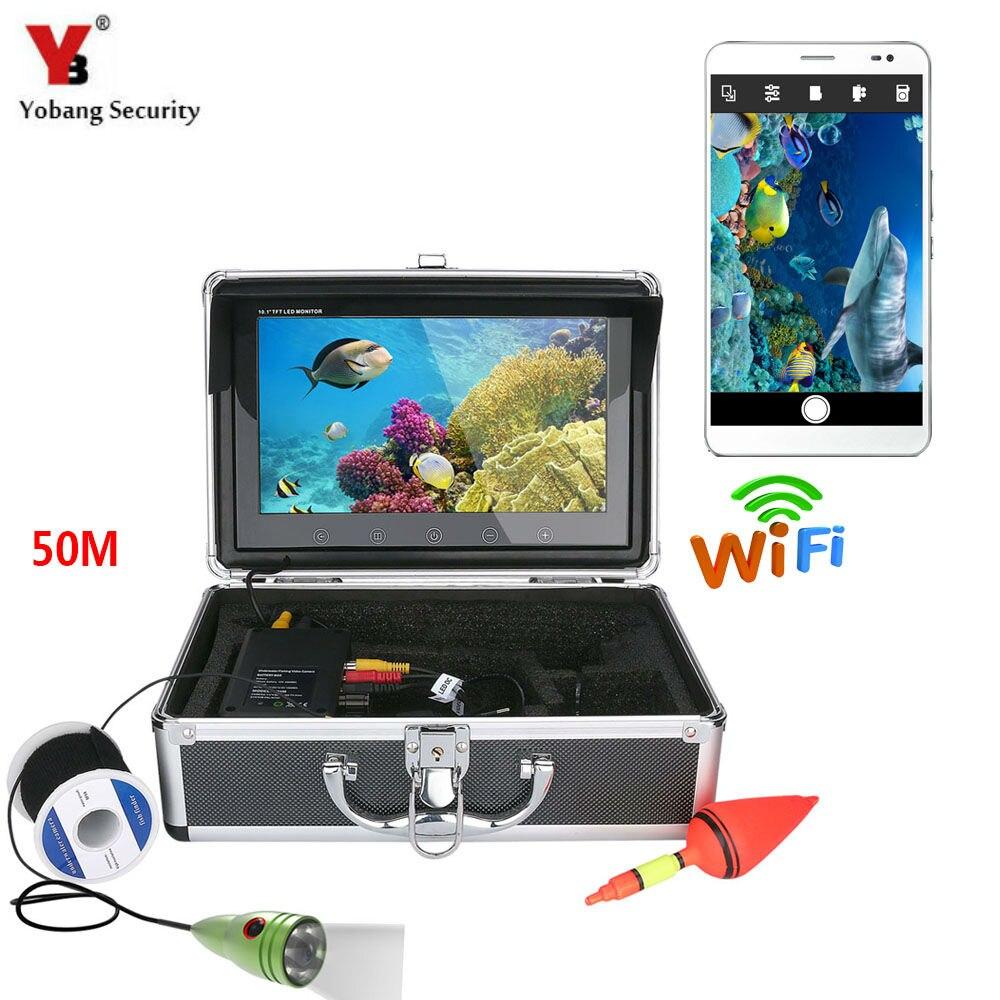 Yobang безопасности 10 50 м видео эхолот Белый светодиодный подводный подледной рыбалки Камера Наборы детектор рыбы для подводной разведка