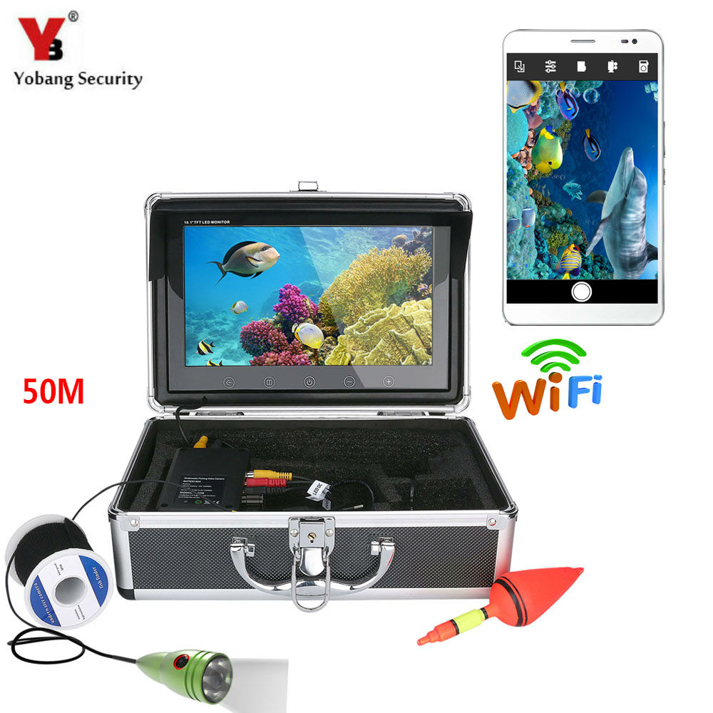 Yobang Security 10 50M Video Fish finder White LED Underwater Ice Fishing Camera Kits Fish Detector For Underwater Exploration