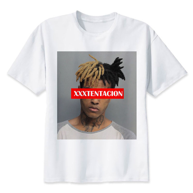 2a16baee98fa Xxxtentacion T shirt men t shirt fashion t shirt O Neck white TShirts For man  Top Tees M8166-in T-Shirts from Men's Clothing on Aliexpress.com | Alibaba  ...