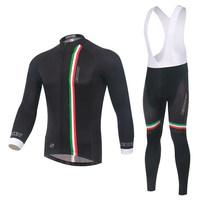 XINTOWN Cycling Jersey Quick Dry Pro Team Fleece Long Sleeve Jerseys With Cycling Bib Pant MTB