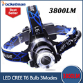 3800LM Headlight CREE T6 LED Head Lamp Headlamp Linterna Torch LED Flashlights Biking Fishing Torch for 18650 Battery
