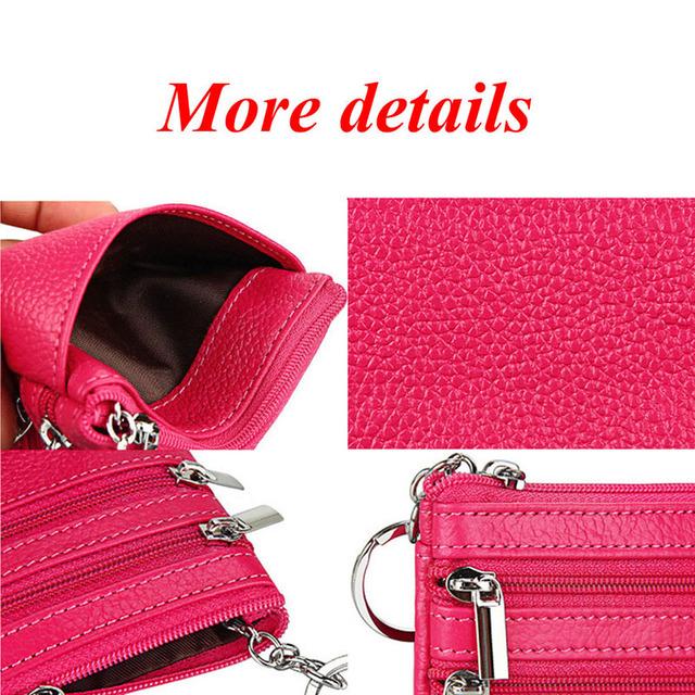 One/Two Zip Women Vintage Faux Leather Wallet