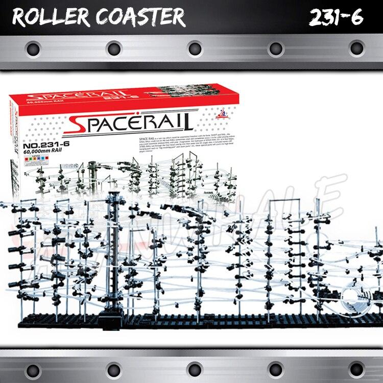6000 cm Rail niveau 6 marbre course labyrinthe montagnes russes ascenseur électrique modèle bâtiment tige apprentissage cadeaux roulement balle Sculpture