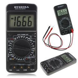 DT9205A Digital AC/DC LCD Display Electric Handheld Ammeter Resistance Capacitance Tester Meter Digital Multimeter Ammeter