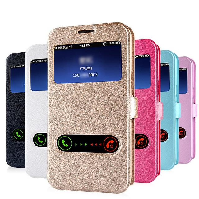 competitive price c19ce ce877 US $1.55 22% OFF|Luxury Smart Front Window View Leather Flip Cover For  Samsung Galaxy J2 Pro J4 J6 A6 A8 2018 A3 A5 A7 J1 J3 J5 J7 2016 2017  Case-in ...