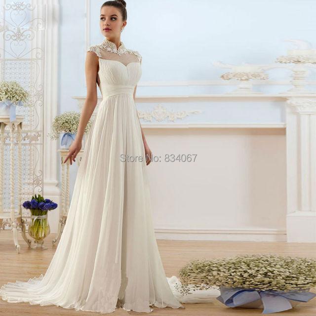 Bridesmaid Dresses Chiffon Collar