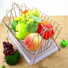 Creative Fruit Basket Sitting Room Decorate Basket Stainless Steel Fruit Storage Basket sunlite steel racktop rear basket black