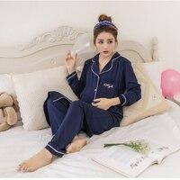 2pcs/set coat+pants maternity nursing pajamas cotton Maternity clothing Sleep & Lounge autumn breastfeeding pajamas for women