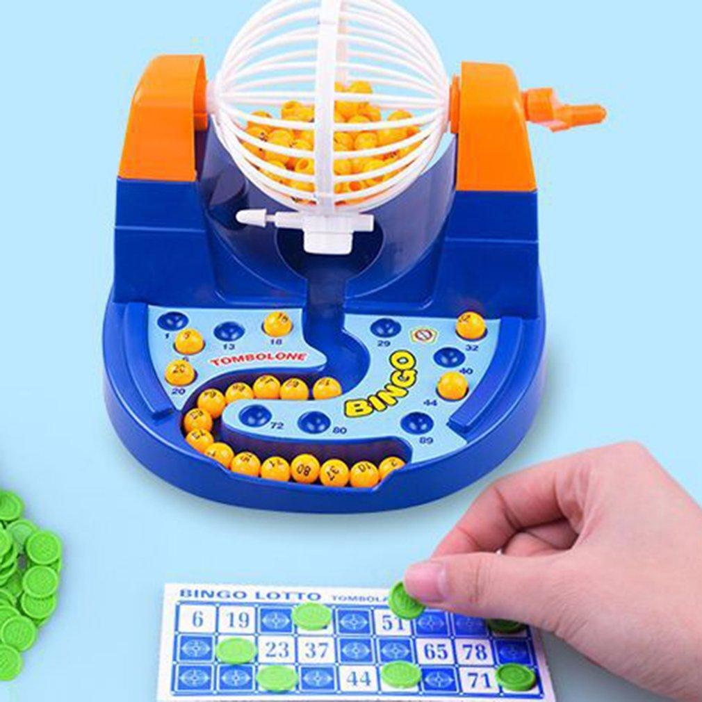 Mini Table Game Lottery Lucky Balls Bingo Game Machine Set ...