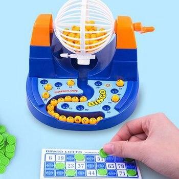 Mini Mesa De Juego De Loteria Suerte Bolas Bingo Maquina De Juego