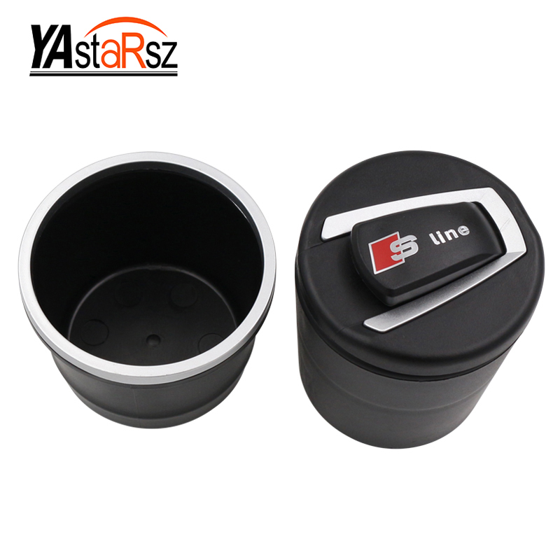 Luxury Car Accessories Portable LED Light Car Ashtray Cigarette Cushion Car Style Creative Mini Garbage Collection Box gd002 car cigarette ashtray with blue led light black page 5