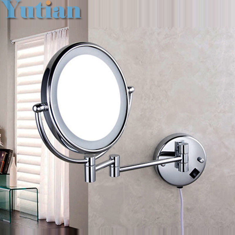 Free shipping LED light makeup mirrors 8 round dual sides 3X /1X mirrors dual arm extend cosmetic wall mount magnifying mirror high quality replacement projector lamp bulb 59 j8401 cg1 for pb7100 pb7105 pb7110 pe7100 pe8250