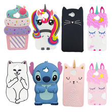 For Coque Huawei Y5 2017 Case Cover Y6 Silicone 3D Cartoon Soft Gel Phone / 5.0