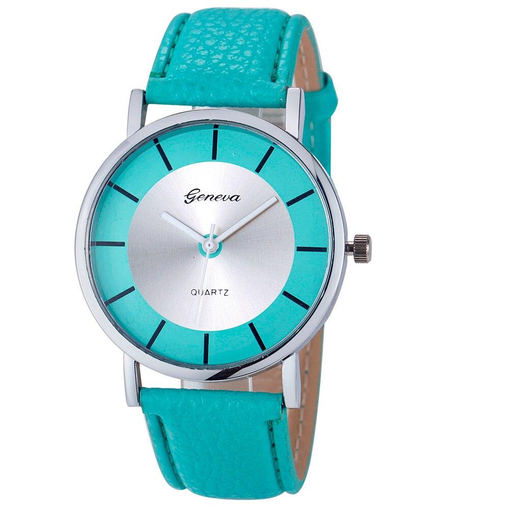 Дизайнерские часы Geneva мятного цвета, 145 грн в
