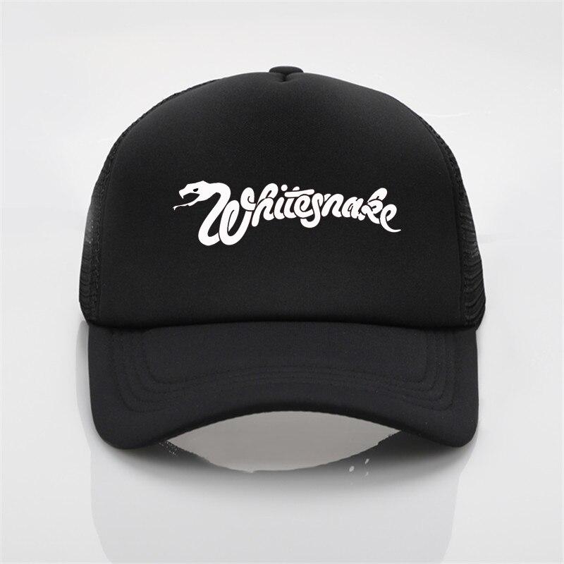 d2c75425877 Whitesnake band printing net cap baseball cap Men and women Summer Trend  Cap New Youth Joker sun hat Beach Visor hat-in Baseball Caps from Apparel  ...