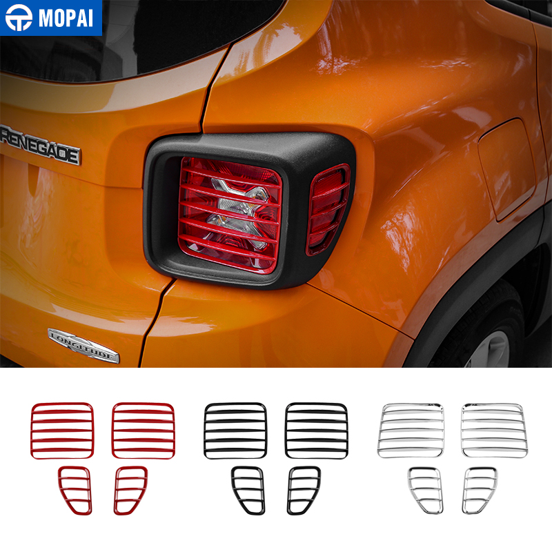 MOPAI Car Lamp Hoods ABS Tail Light Cover Replacement for Jeep Renegade 2016 Up Rear Light