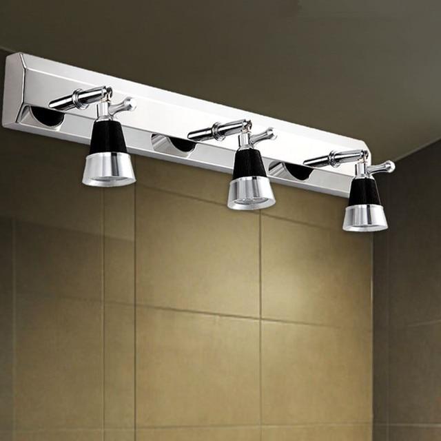 2/3 plugs modern stainless steel bathroom mirror lights/ toilet ...