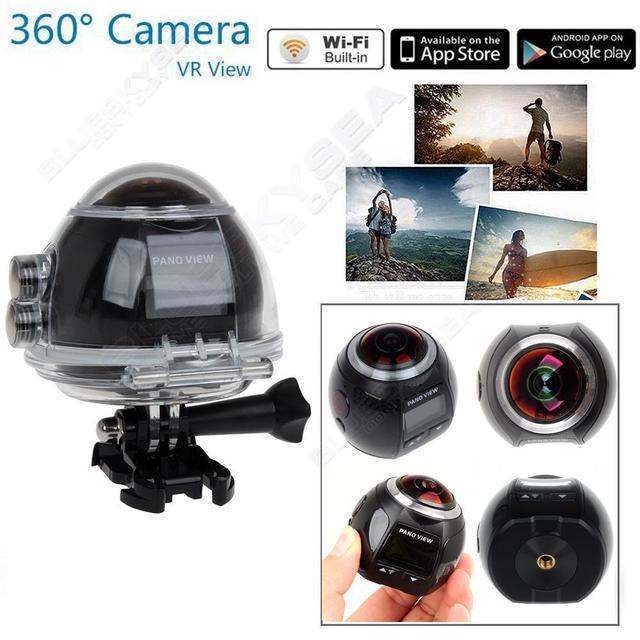 Free Shipping!4K Action Camera Wifi Mini Panoramic Camera 2448*2448 Ultra HD Panorama Camera 360 Degree Sport Driving VR Camera