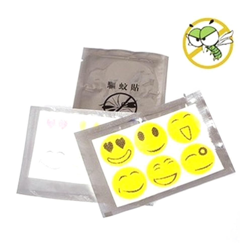 300/60Pcs Smiley Mosquito Repellent Sticker Children Adult Safe Non-toxic Insect Repellent Sticker Outdoor Indoor Stickers 20E(China)