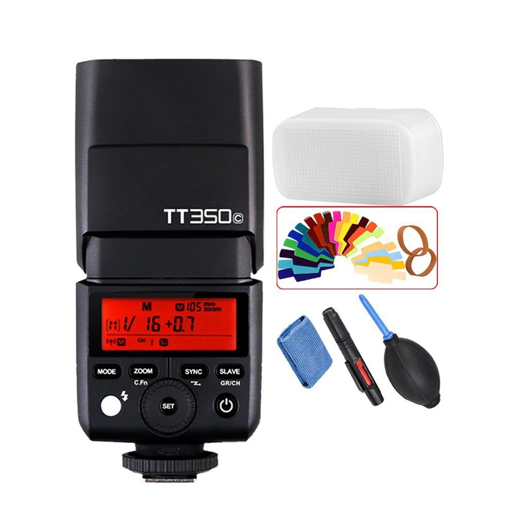 Godox TT350C 2.4G TTL 1/8000s Camera Flash Speedlite for Canon 5D Mark III, 80D, 7D, 760D, 60D, 600D, 30D, 100D, 1100D Camera
