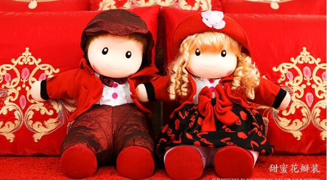 Couple Doll 40CM 1 Pair Wedding Doll Marriage Gift Fashion Lover Gift Girlfriend Plush Toy Doll Pillow Doll New Gift H-27 angel clay аа07011s масса для лепки смешарики