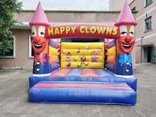 Commercial PVC inflatable clown boucer ปราสาทสำหรับขา(China)