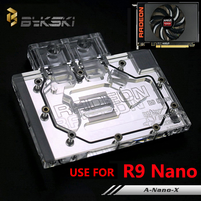 все цены на  Bykski Public Version Full Cover Graphics Card Water Cooling Block use for AMD ATI R9 Nano Water Cooler Block with RGB Light  онлайн