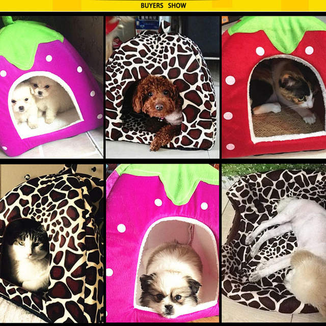 Online Shop Hot Sale Cute Pet Supplies Dog House Soft Pink Cat