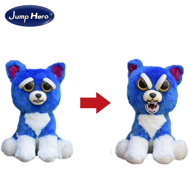Change Face Feisty Pets Collection FREDDY WRECKING BALL the Blue Dog Plush Stuffed Toy Free Shipping promoting social change in the arab gulf