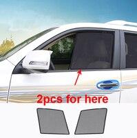 2 piezas para TOYOTA PRADO 2010 2018 Pantalla de ventana lateral Instalación de adsorción magnética|Parasoles para ventana lateral| |  -