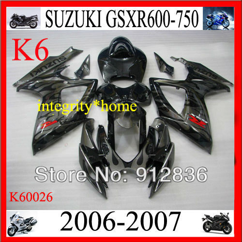 Fairing Injection ABS Plastic Moto Set For Suzuki GSX-R 2006 2007 600 750 Free Shipping by EMS K60026A