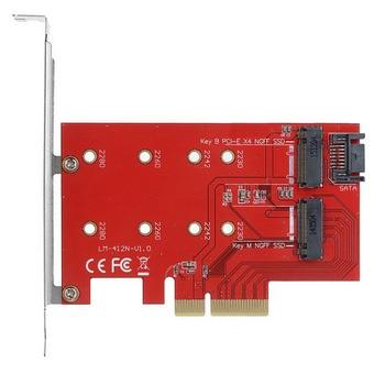 10pcs/lot Chenyang M.2 NGFF 4 Lane SSD to PCI-E 3.0 x4 & NGFF to SATA Adapter for XP941 SM951 PM951 A110 m6e SSD