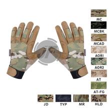 EmersonGear Tactical Assault lekka kamuflaż rękawica ze wszystkimi palcami EmersonGear na każdą pogodę strzelanie rękawice myśliwskie tanie tanio Tactical Lightweight All Weather Gloves 50 50 NYCO Ripstop Fabric And Suede Fabric For Palm Area GL-E5368