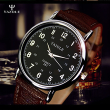 YAZOLE Mens Montres Haut Marque De Luxe Célèbre Quartz-Montre Hommes 24 Heures Échelle Mâle Horloge Montre-Bracelet Montre-Bracelet relogio masculino