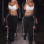 Nuevo cordón de la manera ata para arriba los pantalones de las mujeres del algodón del remiendo flojo pantalones harem 2017 primavera casual hip hop pantalones de chándal