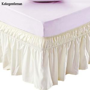 Юбка для кровати, бежевая, с эластичным поясом