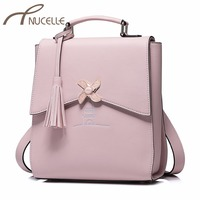 NUCELLE Ladies Fashion Elegant Windmill Shoulder School Bag Female Embroidery Brand Rucksack NZ4040 Women S PU