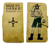 Anime Long Style PU Wallet With Printings Of One Piece Portgas D Ace White Beard