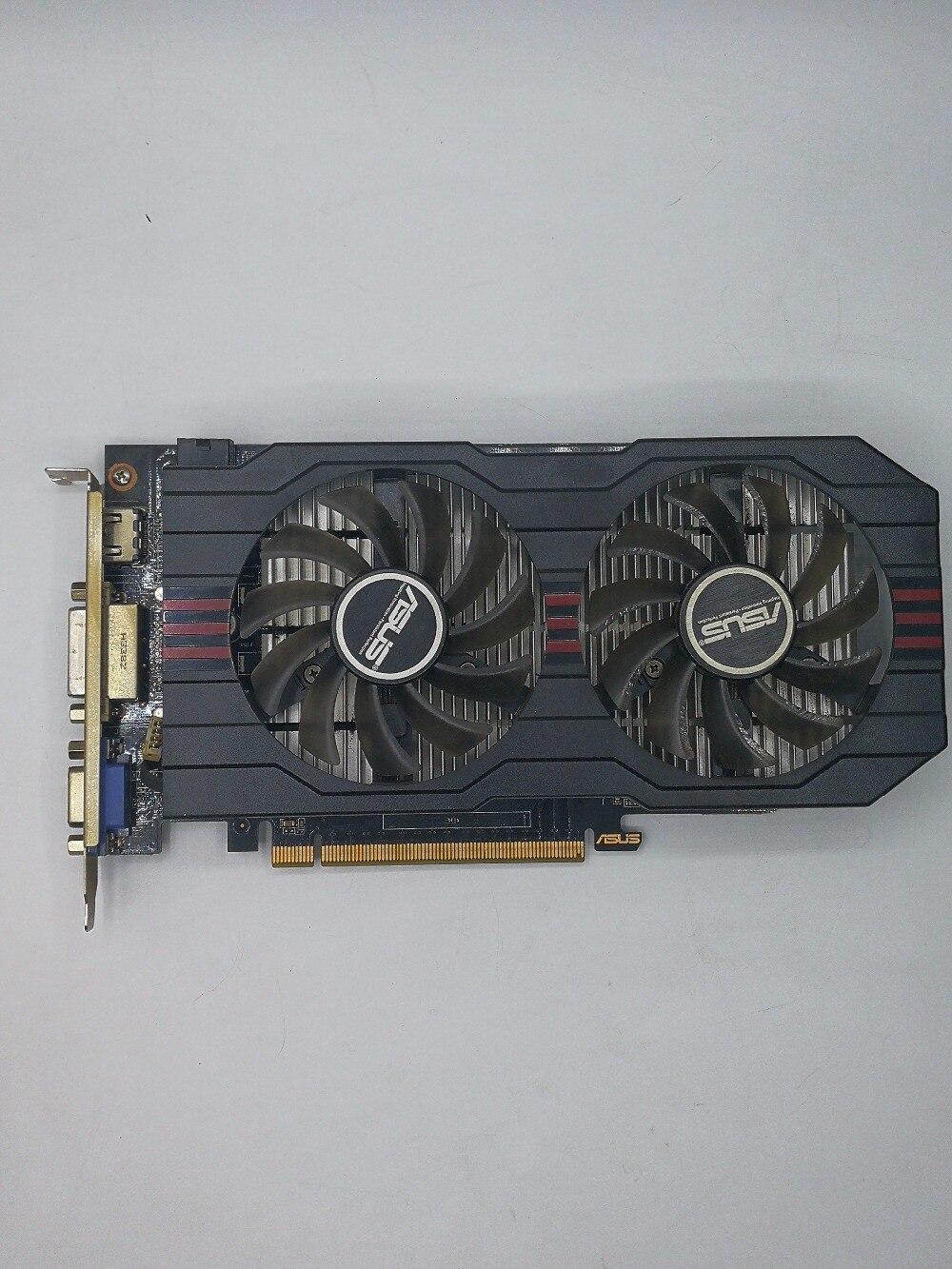 Usado, original Asus GTX650TI tarjeta gráfica GPU 1 GB GDDR5 128BIT tarjeta VGA juego más fuerte que GT630, GT730