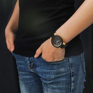 Image 3 - BOBO ptak zegarek dla pary drewna zespół zegarek mężczyźni reloj hombre etui bambusowe nazwa wygrawerować Grooms prezent w pudełku Dropshipping dostosuj